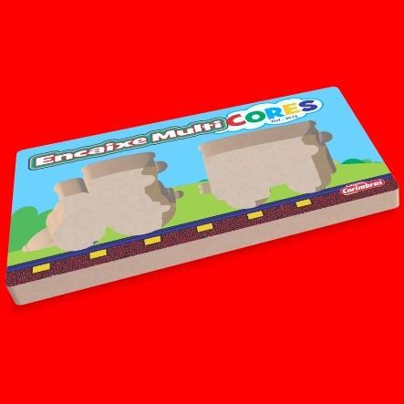 Encaixe Multi-Cores - Brinquedo Pedagógico Educativo