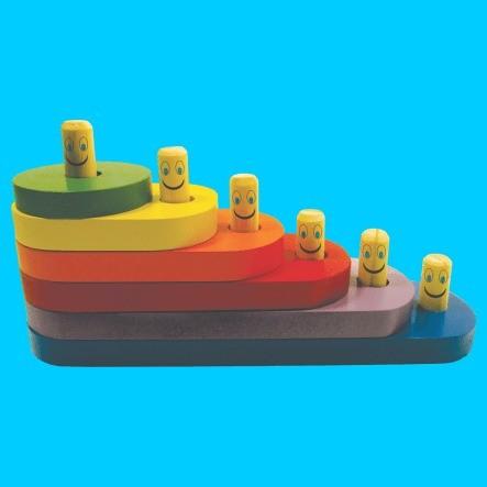 Escada Divertida - Brinquedo Educativo De Encaixar