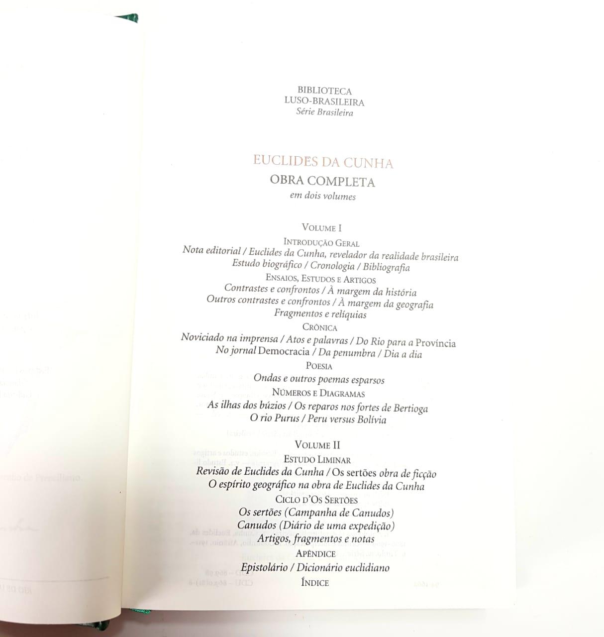 Euclides da Cunha/ Obra Completa - 2 Vol./ Nova Aguilar