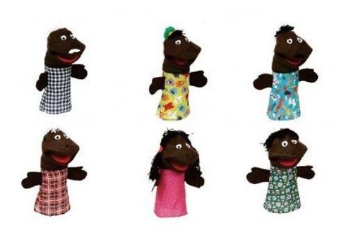 Fantoche De Mão - Família Negra - 6 Personagens Grandes