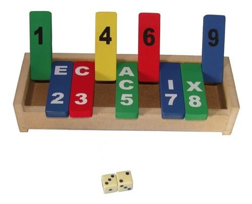 Fecha Caixa - Jogo Matemático - Em Madeira