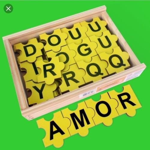 Forme Palavras Encaixe As Letras- Brinquedo Educativo -Alfabetização