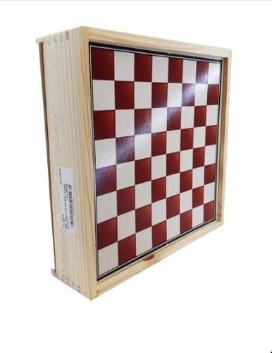 Jogo 5 Em 1 -  Xadrez, Dama, Trilha,  Jogo Da Velha E Ludo - Em Madeira