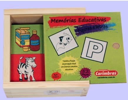 Jogo Da Memória - Letras E Figuras - 52 Peças