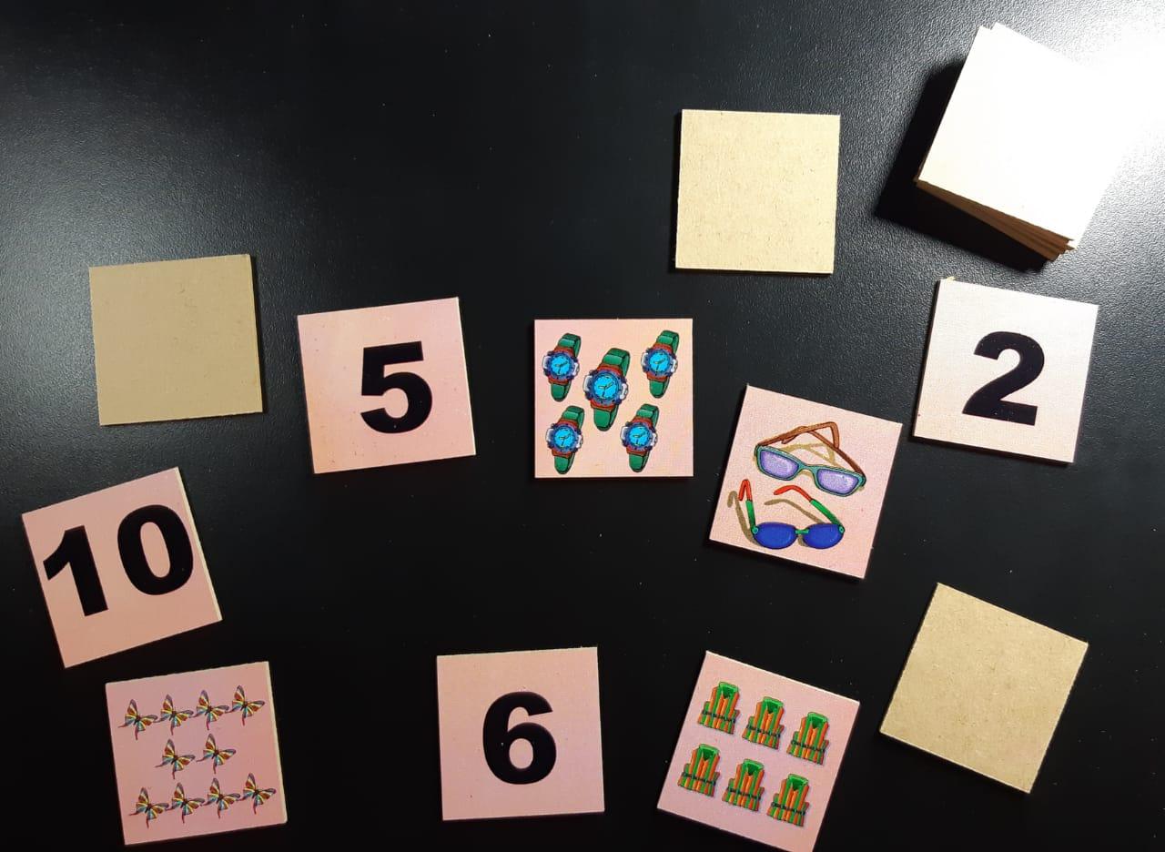 Jogo Da Memória -Números E Quantidades - 40 Peças