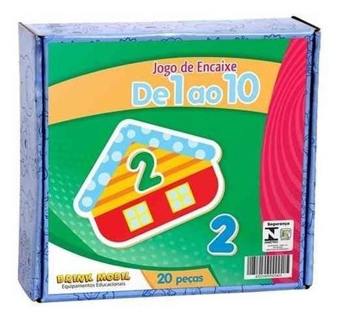 Jogo De Encaixe  De 1 A 10 - 20 Peças - Psicomotricidade