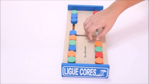 Ligue Cores - Jogo Educativo - Em Madeira