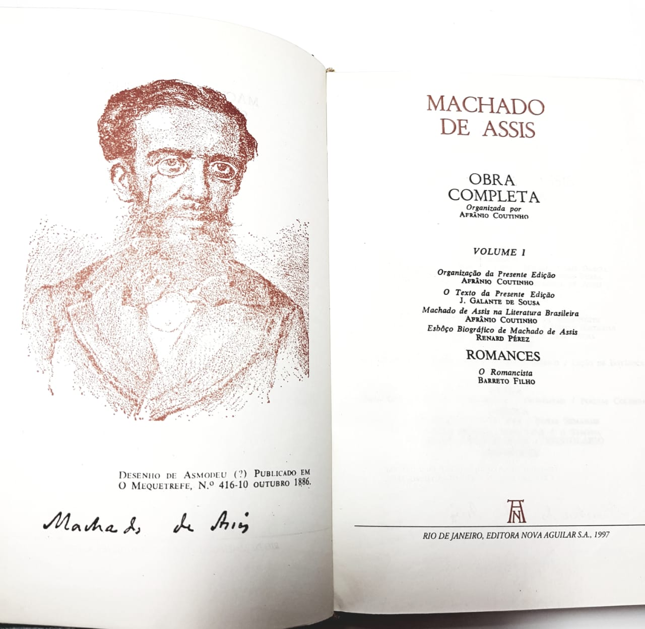 Machado de Assis/ Obra Completa/ Nova Aguilar/ 3 vol.
