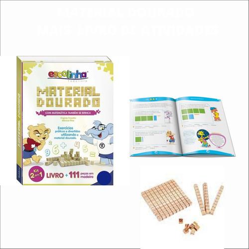 Material Dourado individual 111 peças + livro de atividades