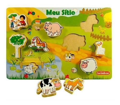 Meu Sítio - Brinquedo Educativo Em Madeira - 18 Meses