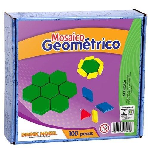 Mosaico Geométrico Em Plástico- 100 Peças