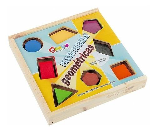 Passa Formas geométricas/ Estimula a psicomotricidade