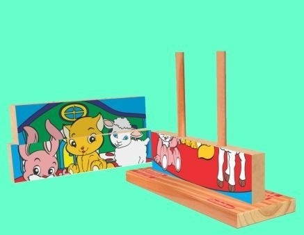 Quebra-Cabeça Vertical De Animais/Puzzle/Psicomotricidade