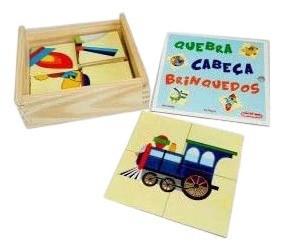 Quebra-Cabeças De Brinquedos - 8 Placas - Em Madeira