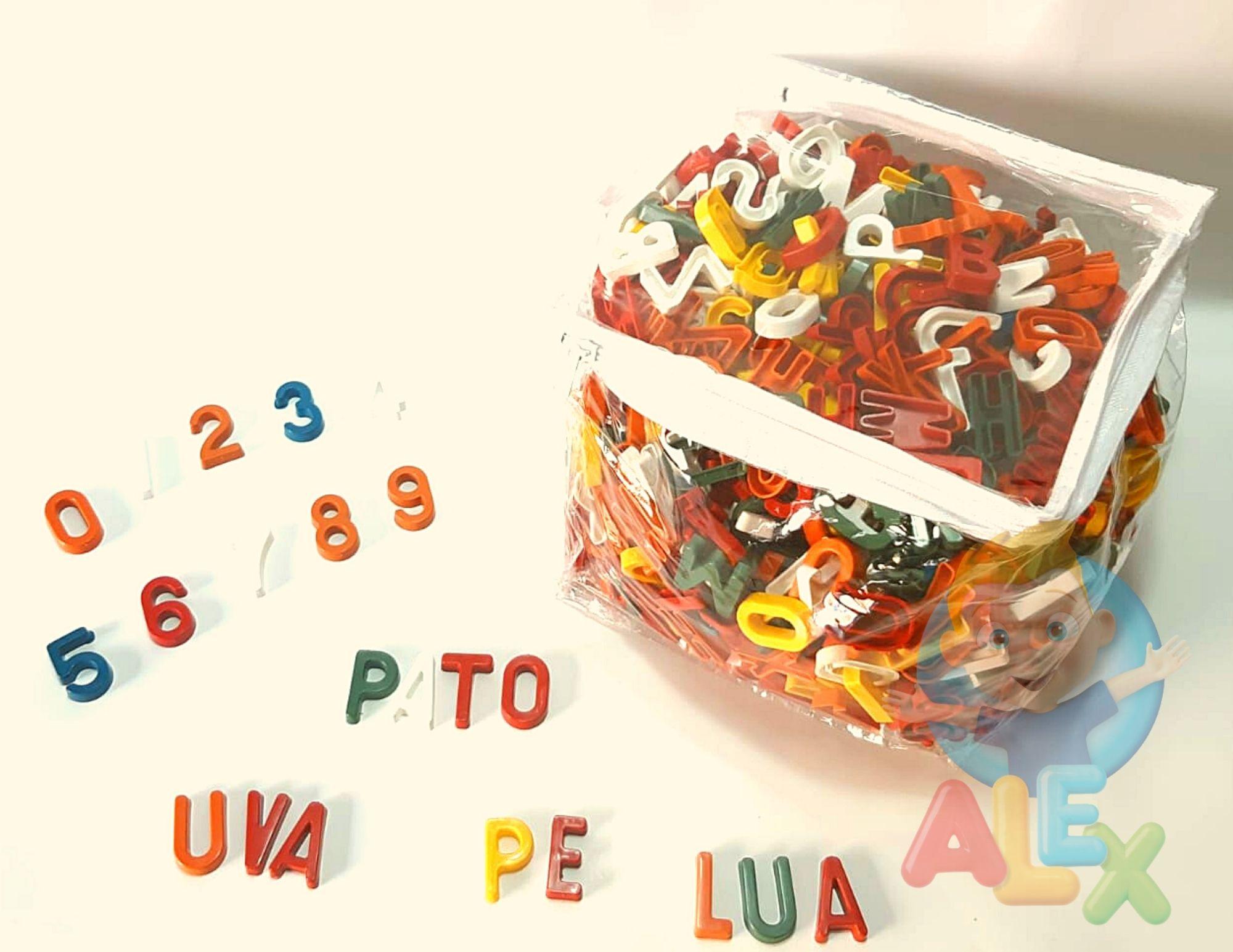 Sacola Alfanumérica - Letras E Números - De Plástico - 1000 Peças