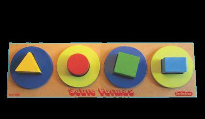 Sobre Formas - Mdf - Brinquedo Pedagógico Educativo