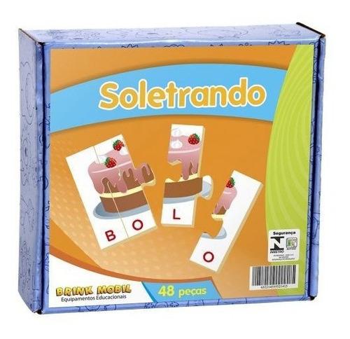 Soletrando - 48 Peças - Em Madeira - Alfabetização