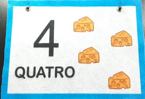 Brinquedo /Varal De Números De 0 A 9 -  Em Feltro - Matemática