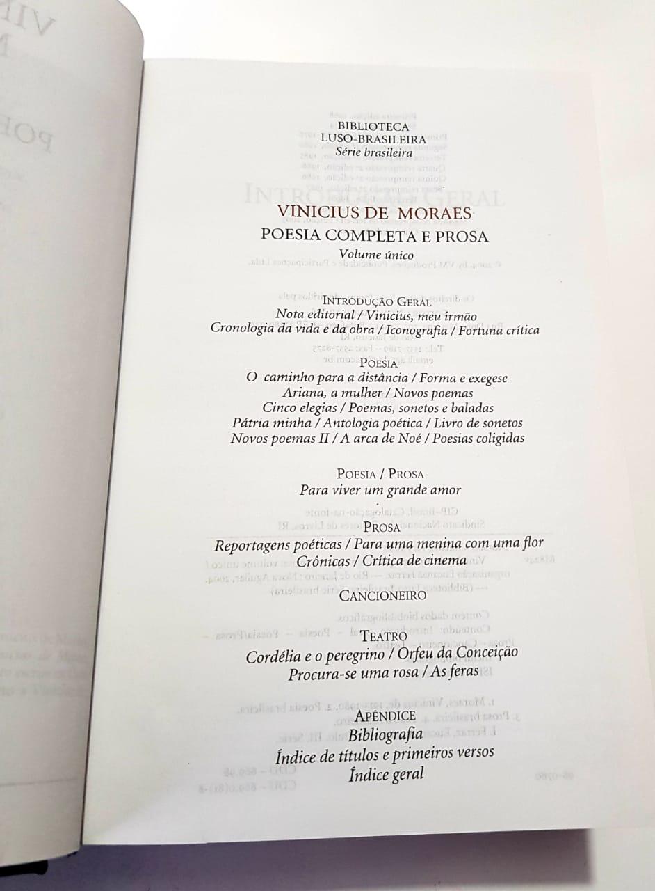 Vinicius de Moraes/ Obra completa Poesia e prosa / Nova Aguilar