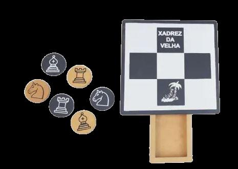 Xadrez Da Velha - Jogo De Raciocínio - Em Madeira