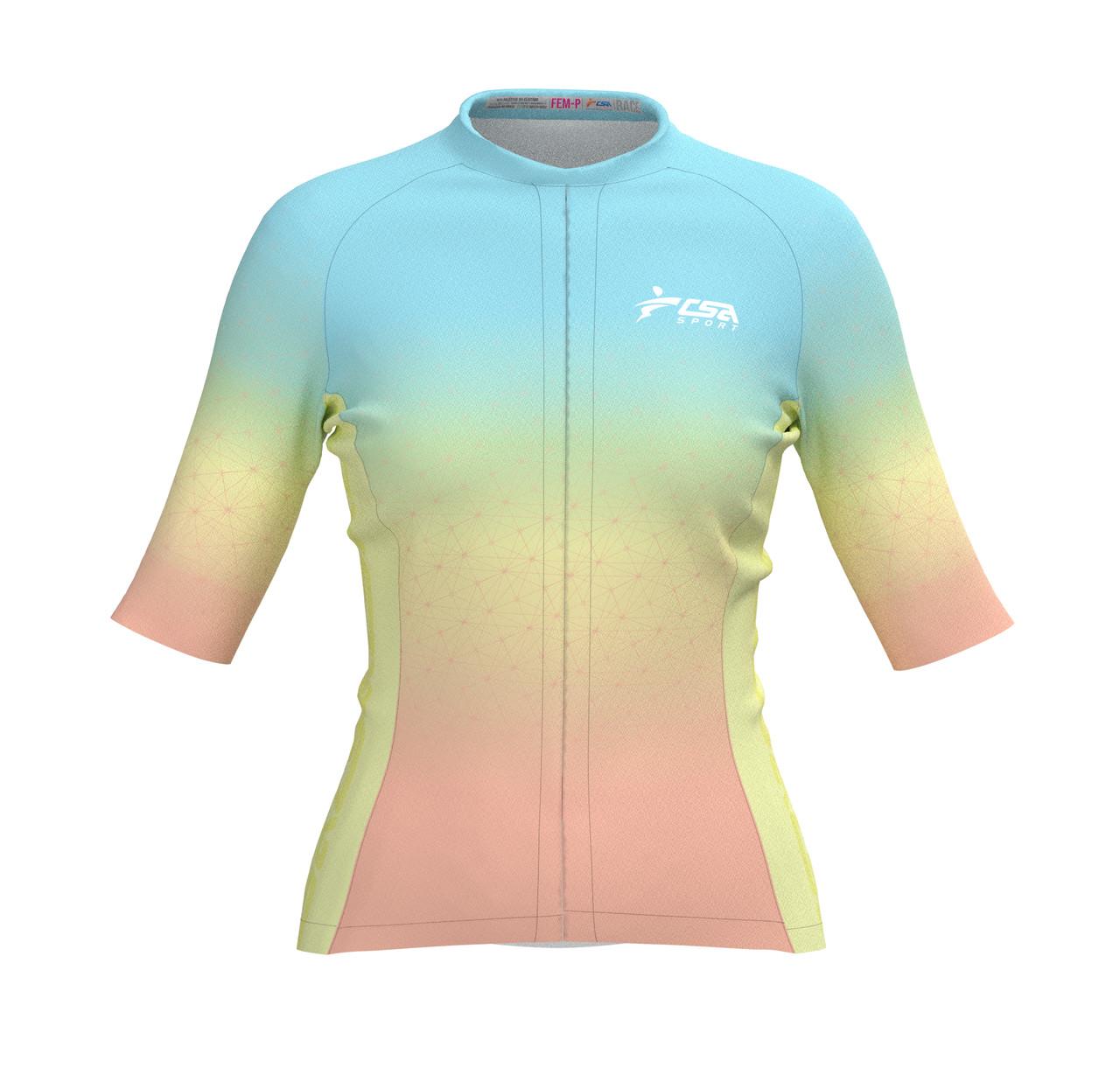 Camisa Ciclista Fast CSA Sport Feminina Sunrise