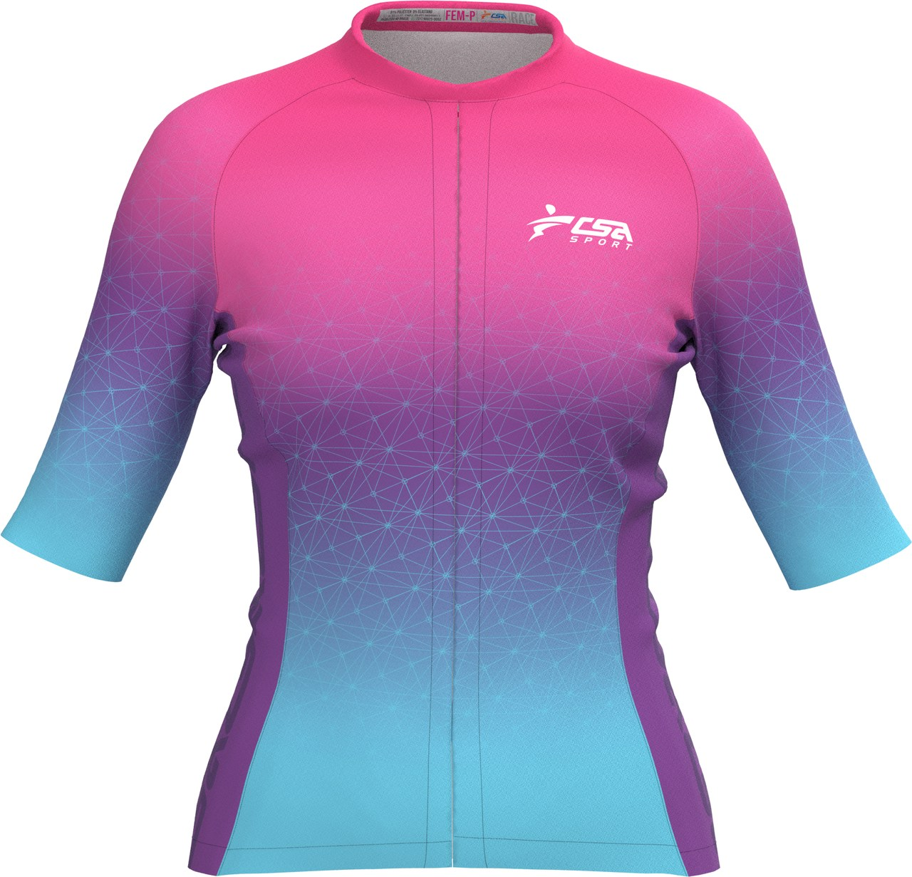 Camisa Ciclista Fast CSA Sport Feminina Twilight
