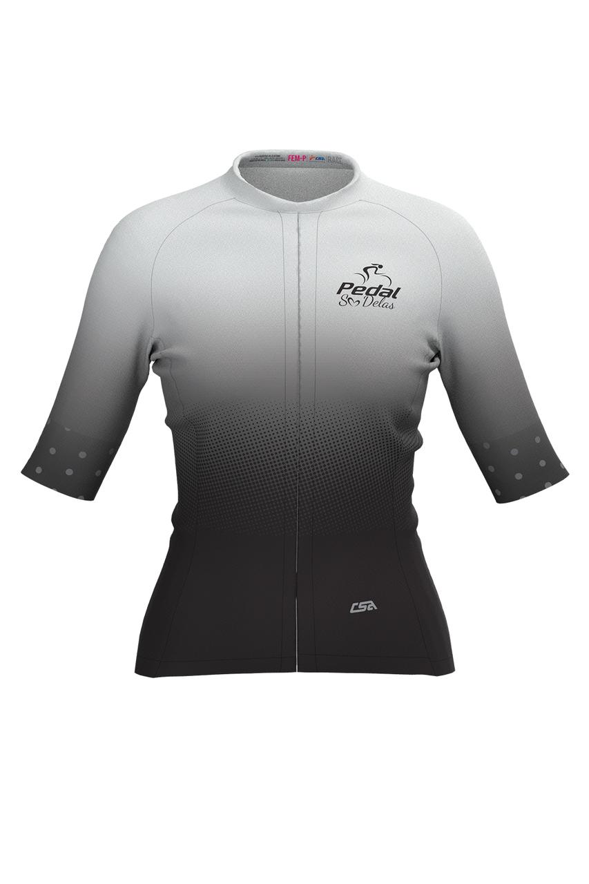 Camisa Ciclista Feminina Race Pedal Só Delas Gray