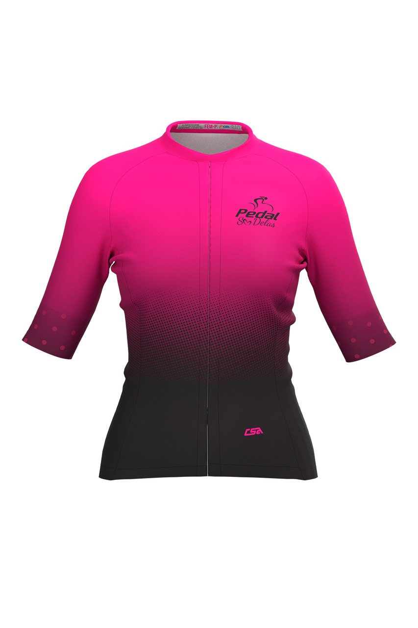 Camisa Ciclista Feminina Tour Pedal Só Delas Pink