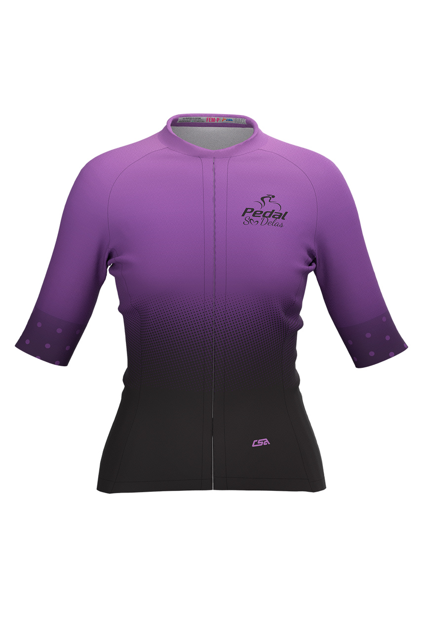 Camisa Ciclista Feminina Tour Pedal Só Delas Purple
