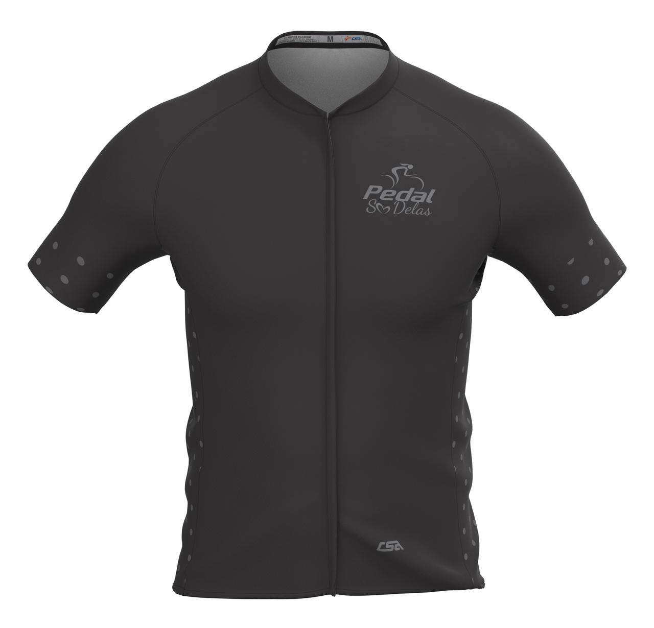 Camisa Ciclista Masculina Race Pedal Só Delas All Black