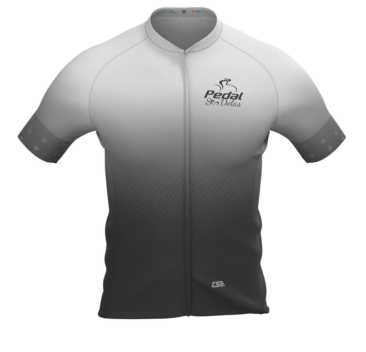 Camisa Ciclista Masculina Race Pedal Só Delas Gray