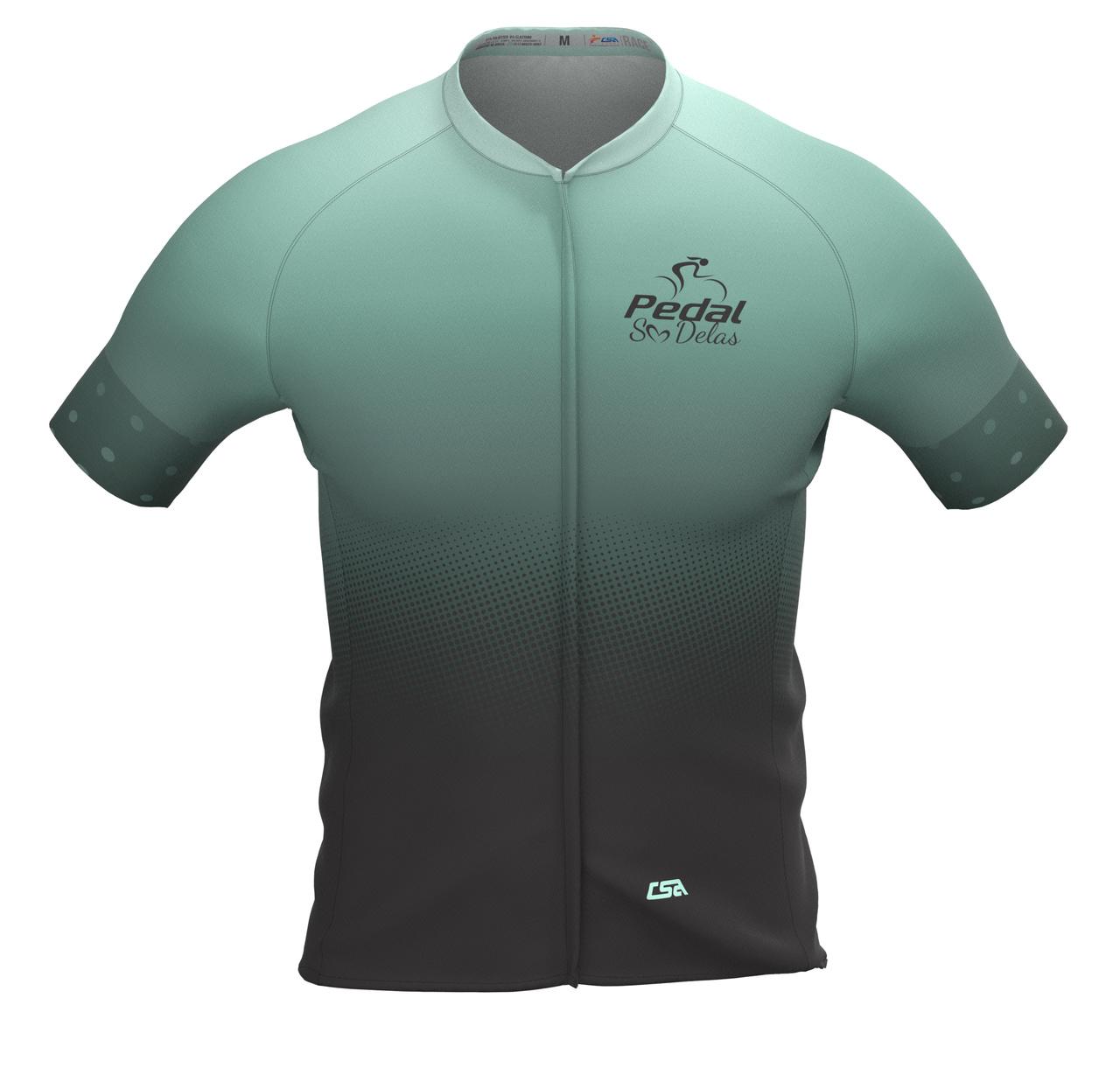 Camisa Ciclista Masculina Race Pedal Só Delas Green