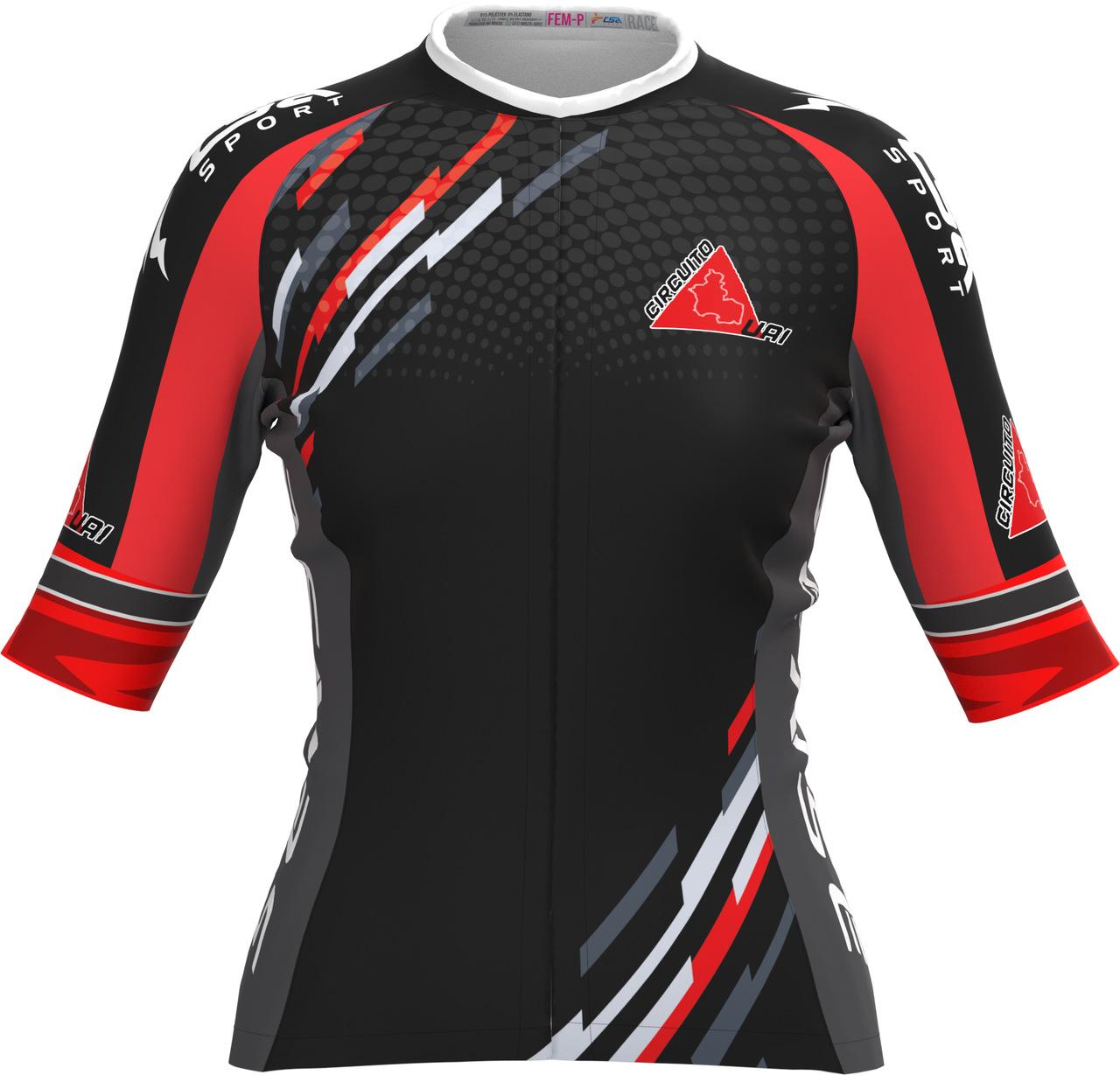 Camisa Ciclista Tour Circuito Uai Feminina Manga Curta
