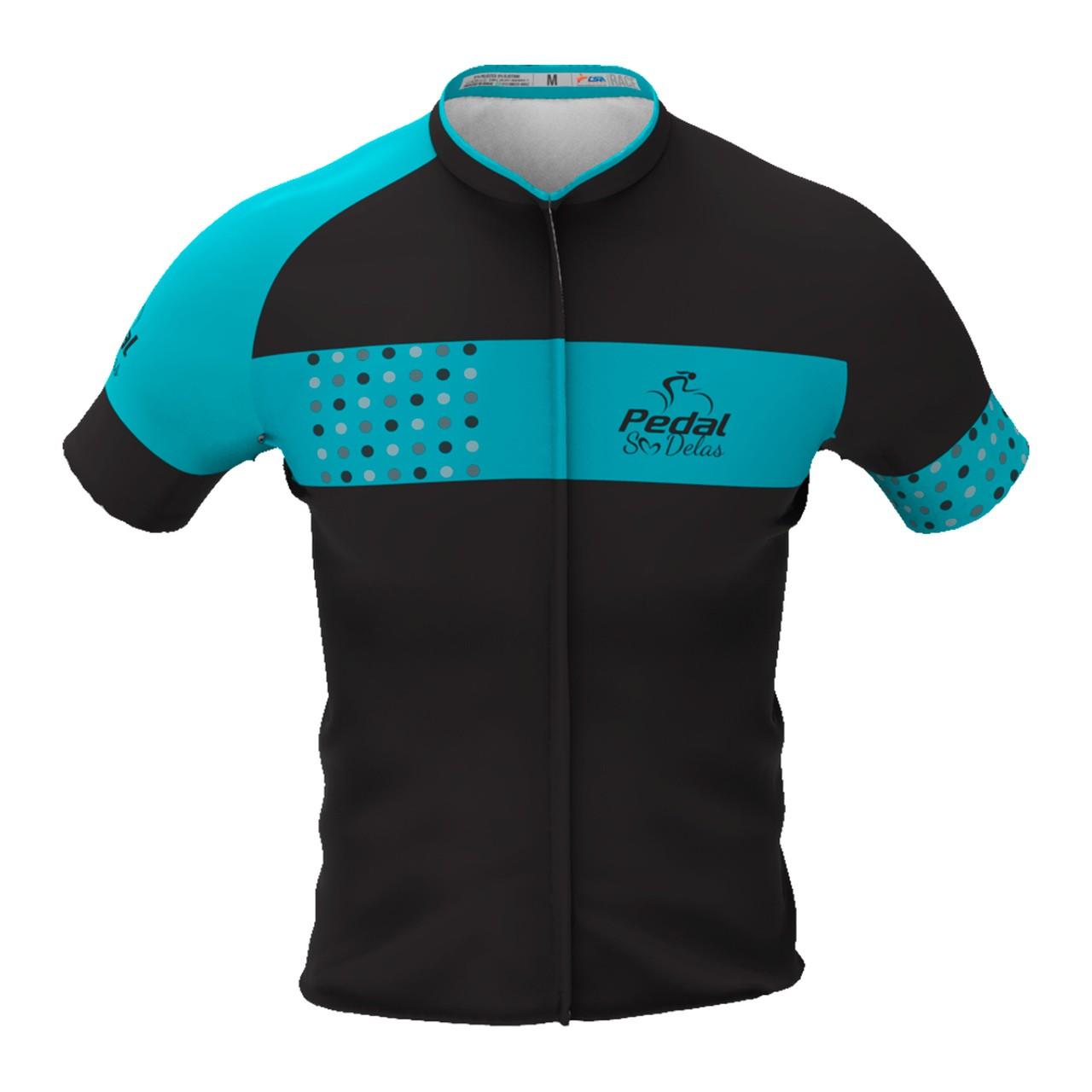 Camisa Ciclista Tour CSA Manga Curta Infantil Pedal Só Delas