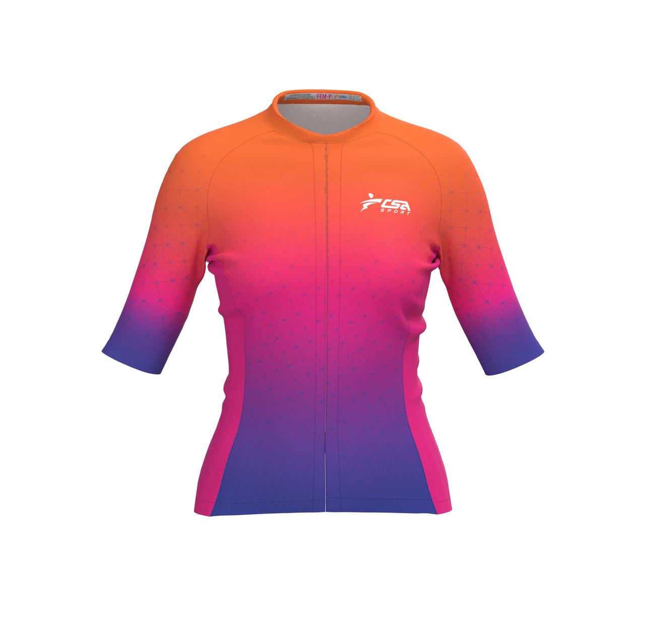Camisa Ciclista Tour CSA Sport Feminina Sundown