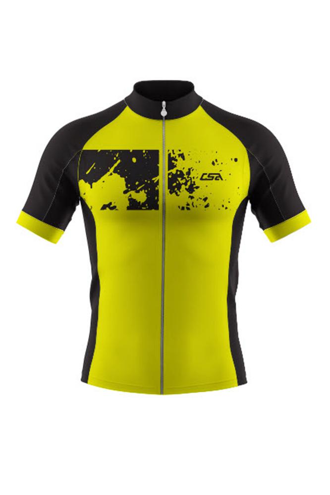 Camisa Ciclista Tour CSA Sport Infantil Manga Curta Verde