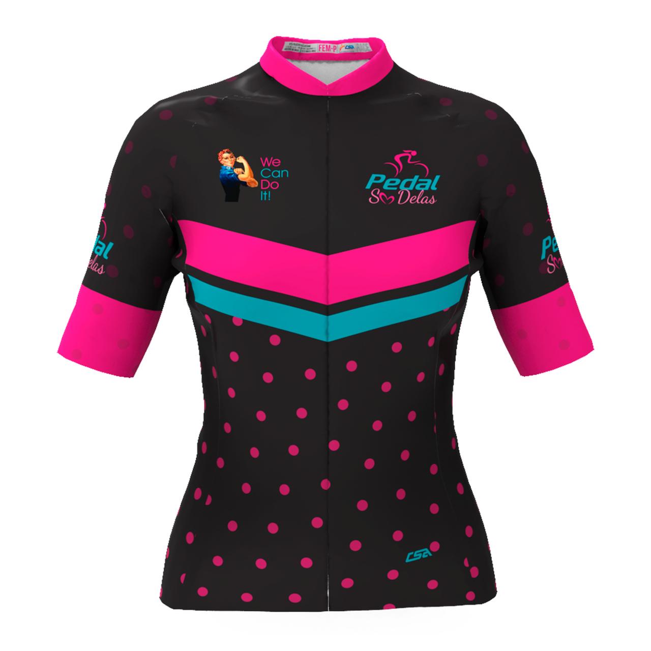 Camisa Ciclista Tour Pedal Só Delas Feminina Modelo 2