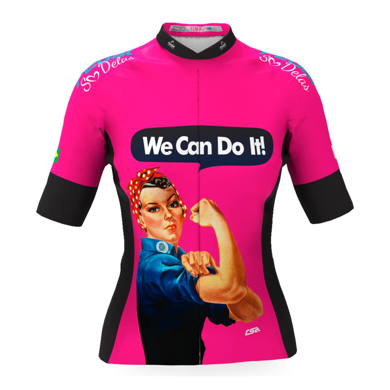 Camisa Ciclista Tour Pedal Só Delas Feminina We Can Do It!