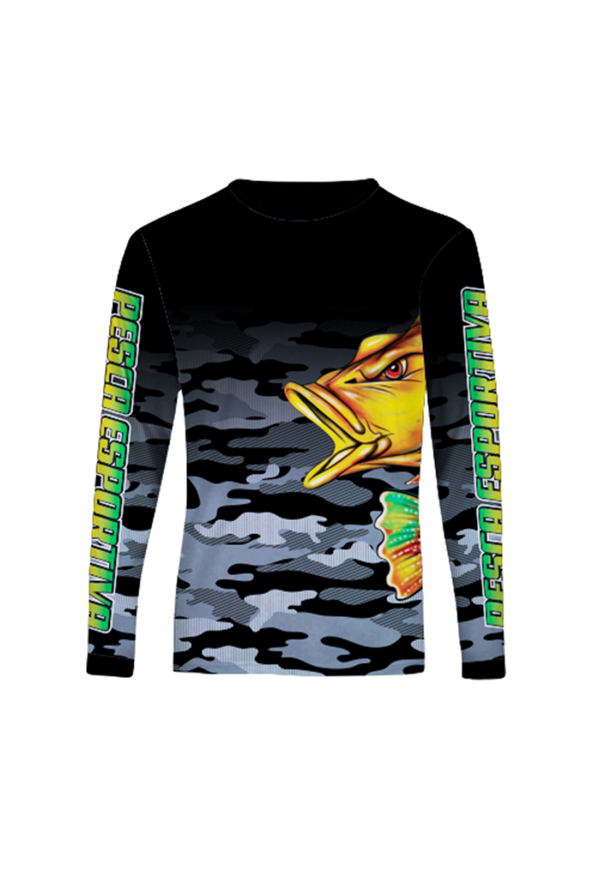 Camisa Pesca CSA Sport Manga Longa Sensitive UV50+ Tucunaré