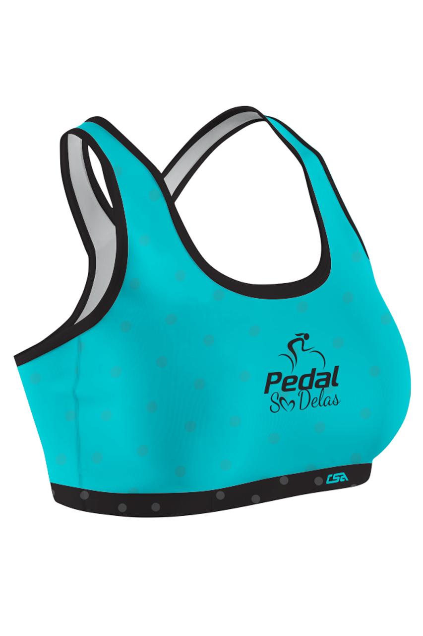 Top Pedal Só Delas Ciclista Feminino Azul