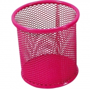 Acessório Para Mesa Porta Objetos Redondo Rosa