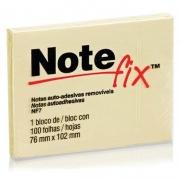Bloco de Recado Autoadesivo Notefix Amarelo 76x102mm 100Fls