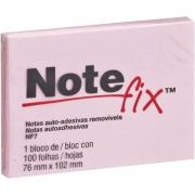 Bloco de Recado Autoadesivo Notefix Rosa 76x102mm 100Fls