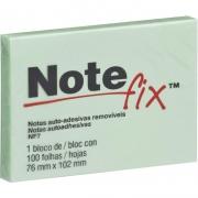 Bloco de Recado Autoadesivo Notefix Verde 76x102mm 100Fls