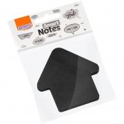 Bloco de Recado Autoadesivo Smart Notes Preto Seta 50Fls. - BRW