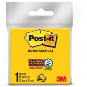 Bloco de Recado Post-It Amarelo Neon c/45 Folhas 76x76mm - 3M