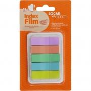Bloco Marcador de Página Adesivo Index Film 5 Cores Pastel 24Fls - Leonora