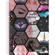 Caderno 10X1 Capa Dura 2021 Sweet Moment Colegial 160Fls