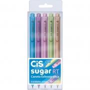 Caneta Esferográfica Cis Sugar Rt 1.0 - 5 Cores Pastel - Sertic