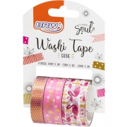 Fita Adesiva Decorada Washi Tape 10/15/20x3 Flamingo - BRW